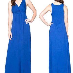 Matty M Blue Empire Waist Maxi Dress XL